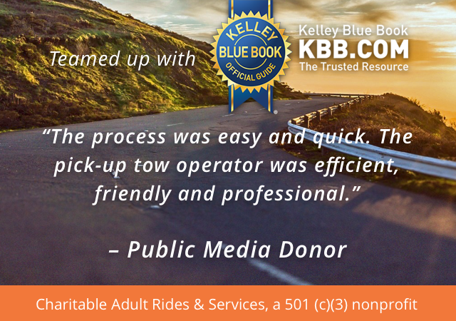 CARS (Charitable Adult Rides & Services) and Kelley Blue Book (KBB) team up to offer you a vehicle donation program.